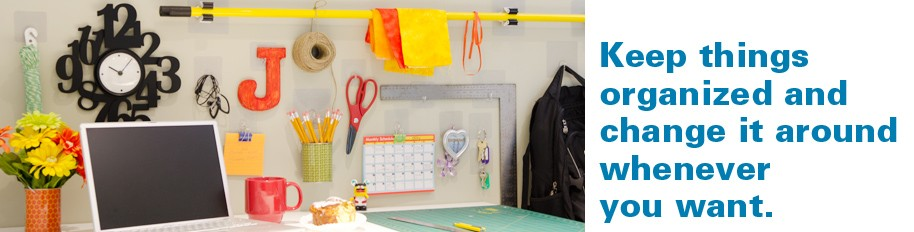 Keep things organized and change itt around whenever you want.